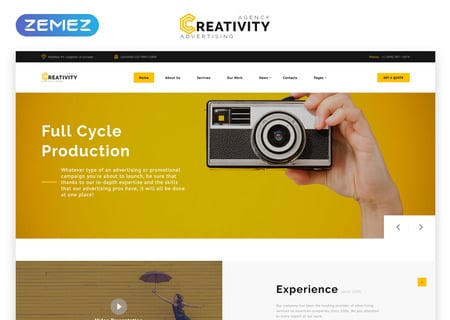 Advertising Agency Multipage HTML