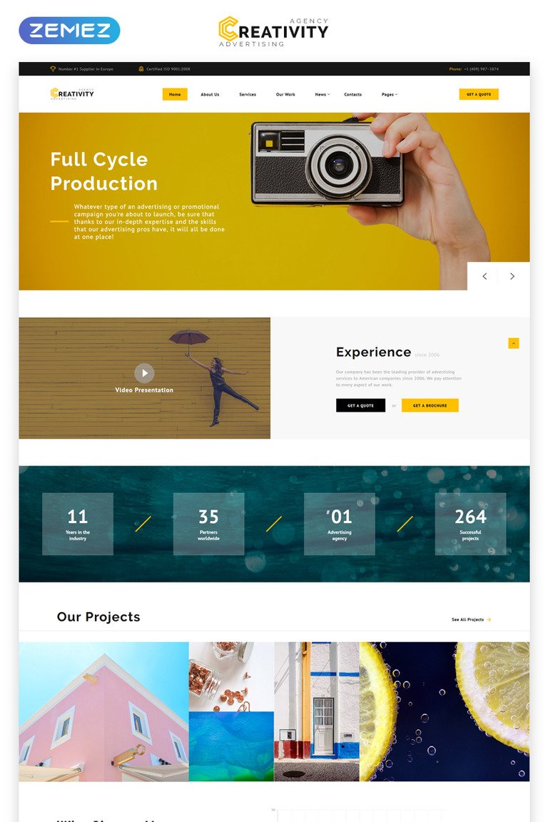 Creativity - Advertising Agency Multipage HTML5 Website Template