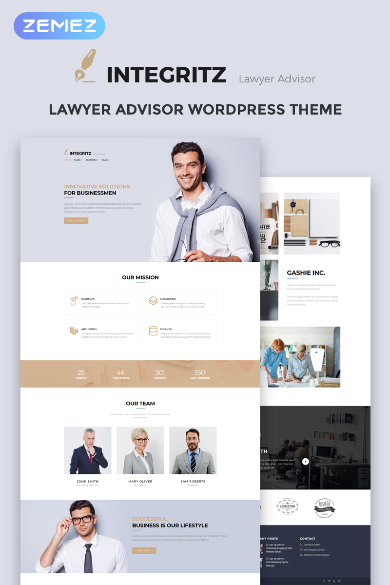 Адаптивный шаблон №68519 на тему бизнес и услуги, адвокат, юридическая фирма