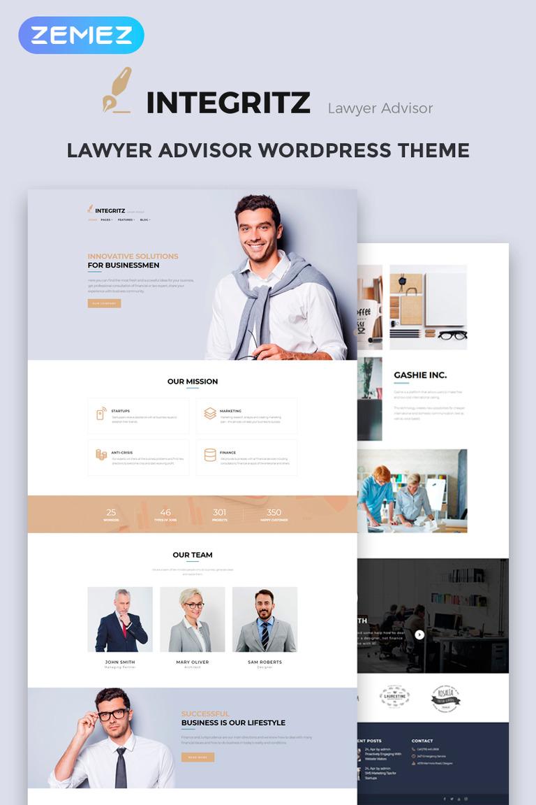 WordPress Theme #68519 für Anwaltskanzlei