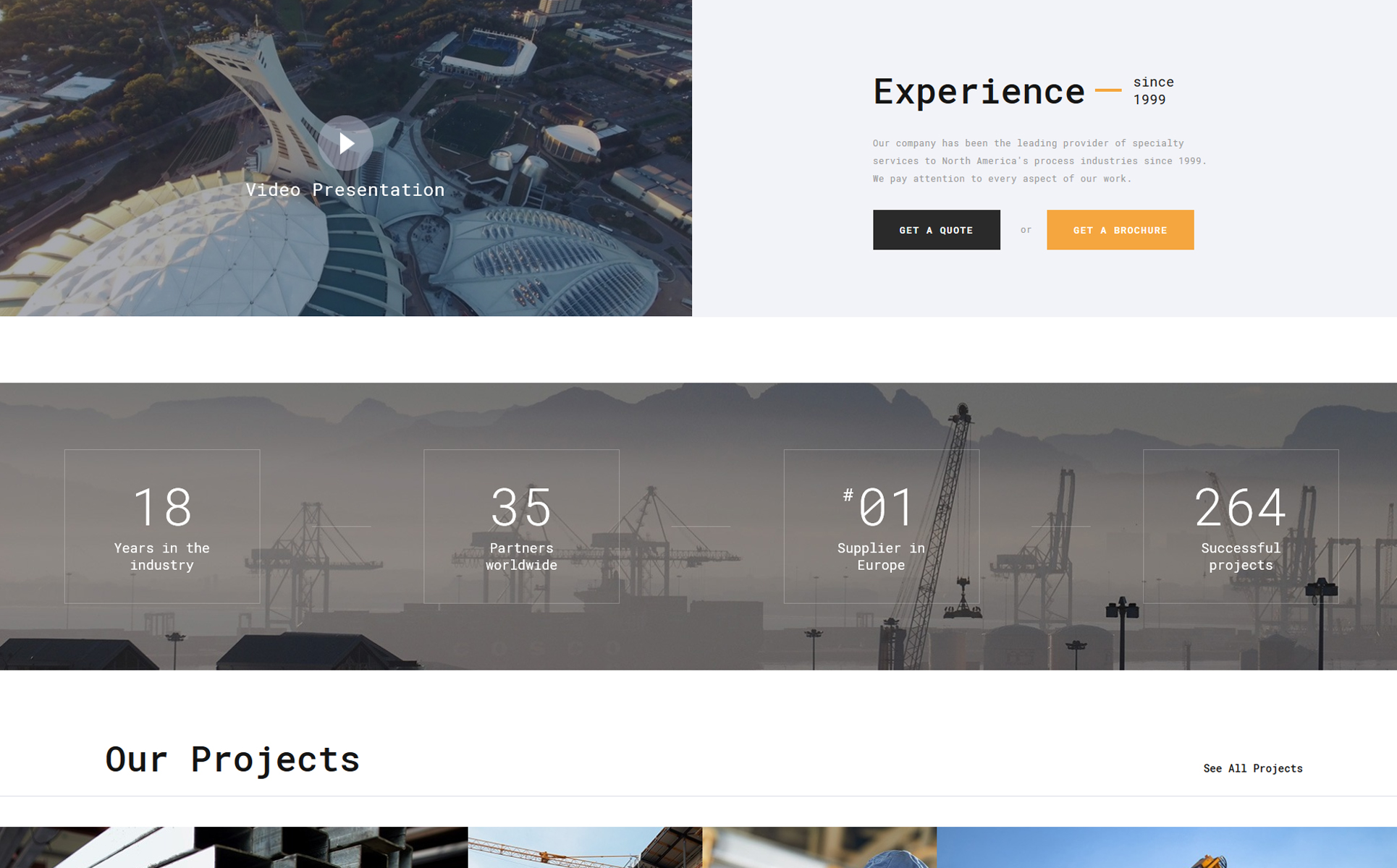 Construction Multipage HTML5 Template