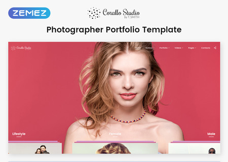 Photographer Portfolio Multipage HTML5