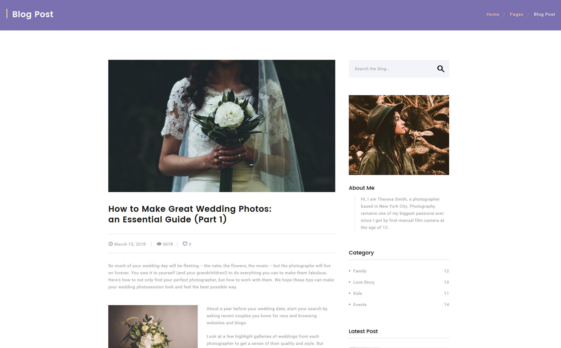 Ungewöhnlich Website Vorlage Für Fotografen Bilder - Beispiel ...
