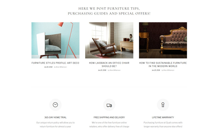Furniture Multipage Responsive HTML Theme