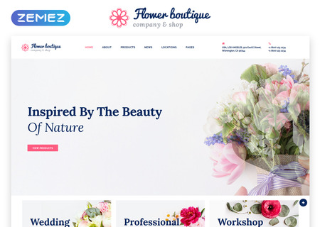 Flower Boutique Multipage HTML5