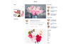 Flower Boutique Multipage HTML5 Website Template Big Screenshot