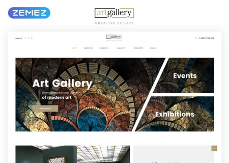 Art Gallery Multipage HTML5