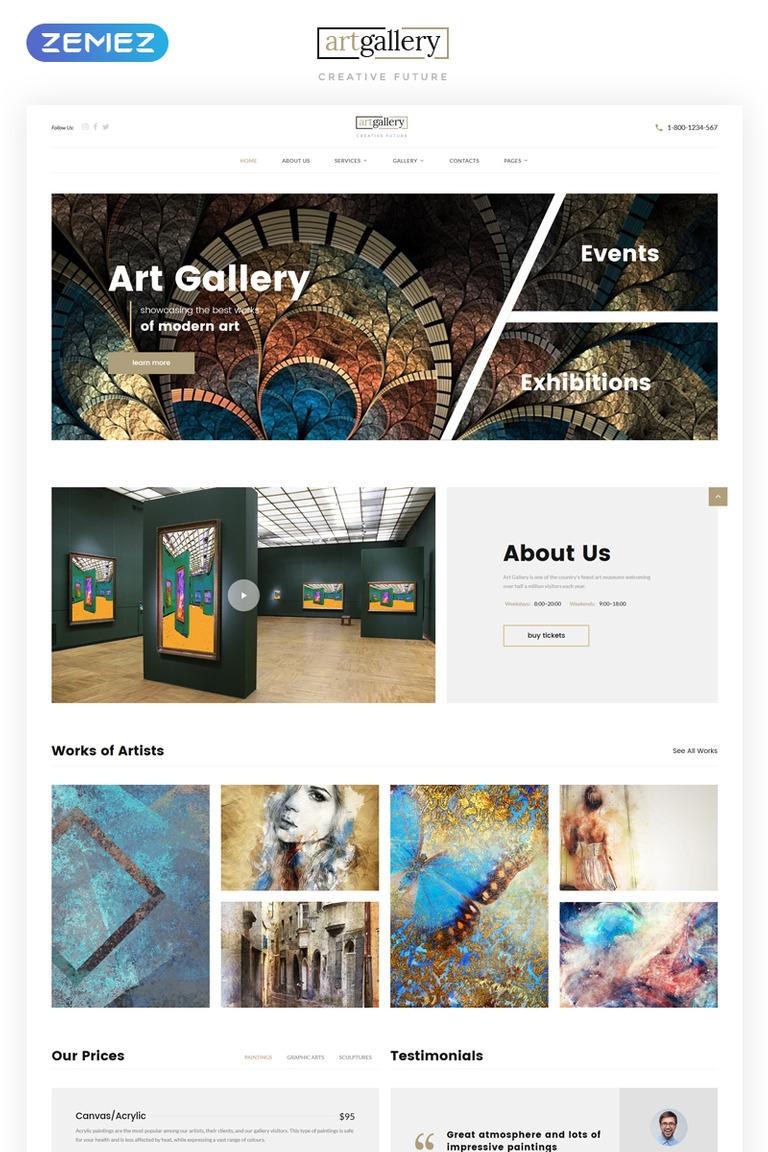 Art Gallery Multipage HTML5 Website Template Big Screenshot