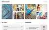 Plantilla Web para Sitio de Galerías de arte Captura de Pantalla Grande