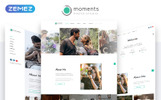 Responsivt Moments - Photographer Portfolio Multipurpose Hemsidemall