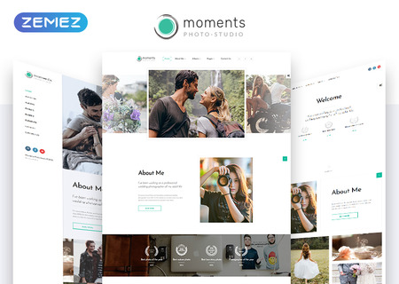 Moments Photographer Portfolio Multipurpose HTML5