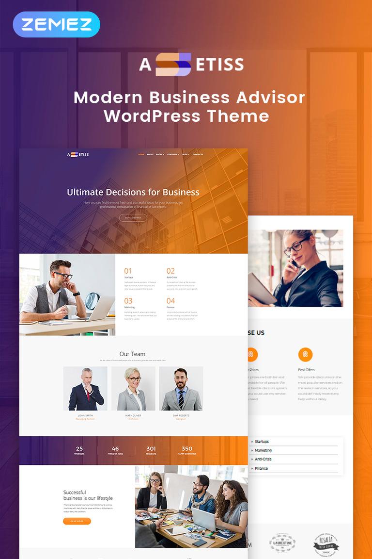 Assetiss - Modern Business Advisor Elementor WordPress Theme