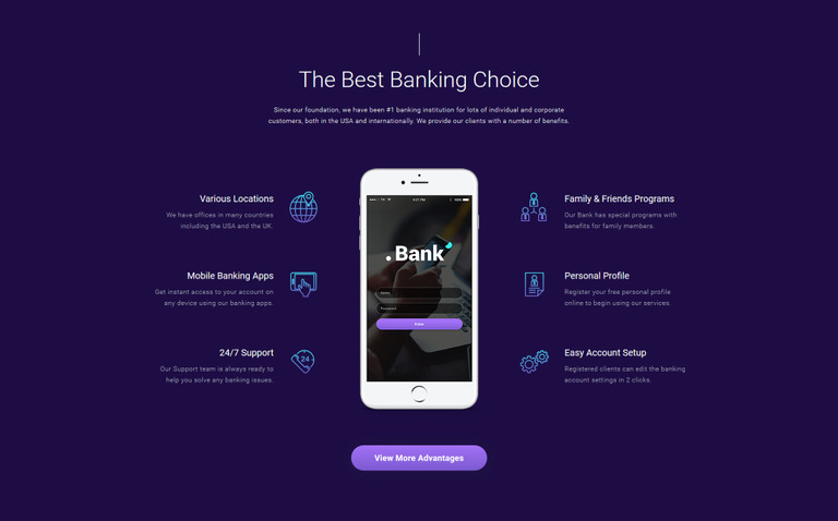 banking financial multipage html5 template