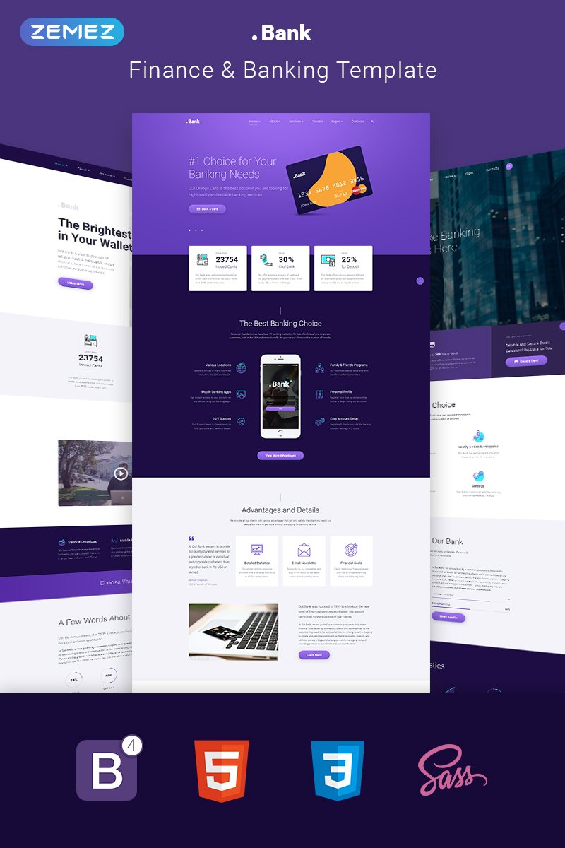 Banking & Financial Multipage HTML5 Template