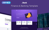 "Website Vorlage namens "".Bank - Finance & Banking Multipage Bootstrap 4"""