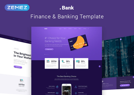 Banking & Financial Multipage HTML5