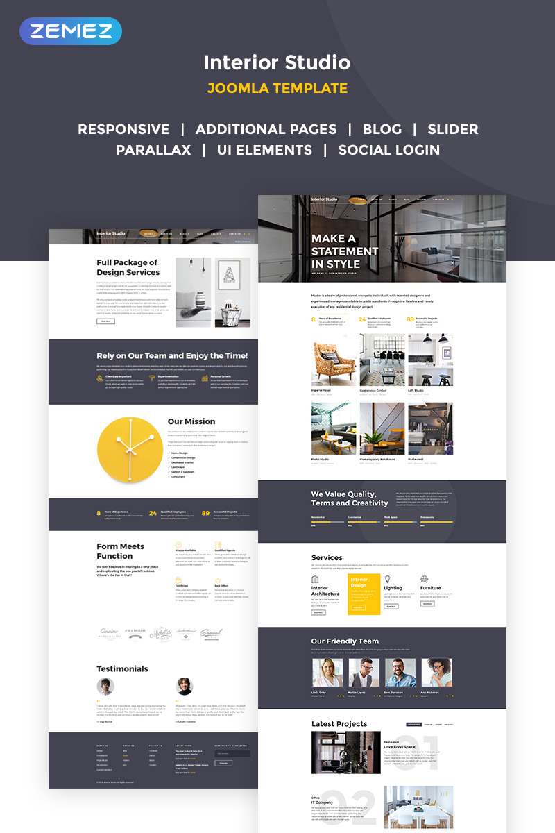 Distinctive Interiors   Interior Design U0026 Construction Agency Joomla  Template New Screenshots BIG