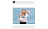 """Trendy - Fashion Magazine Multipage HTML5"" modèle web adaptatif"