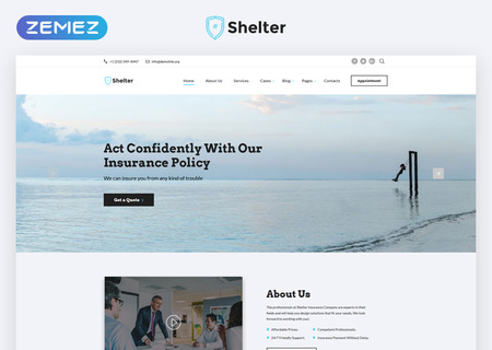 Insurance Agency Multipage HTML5