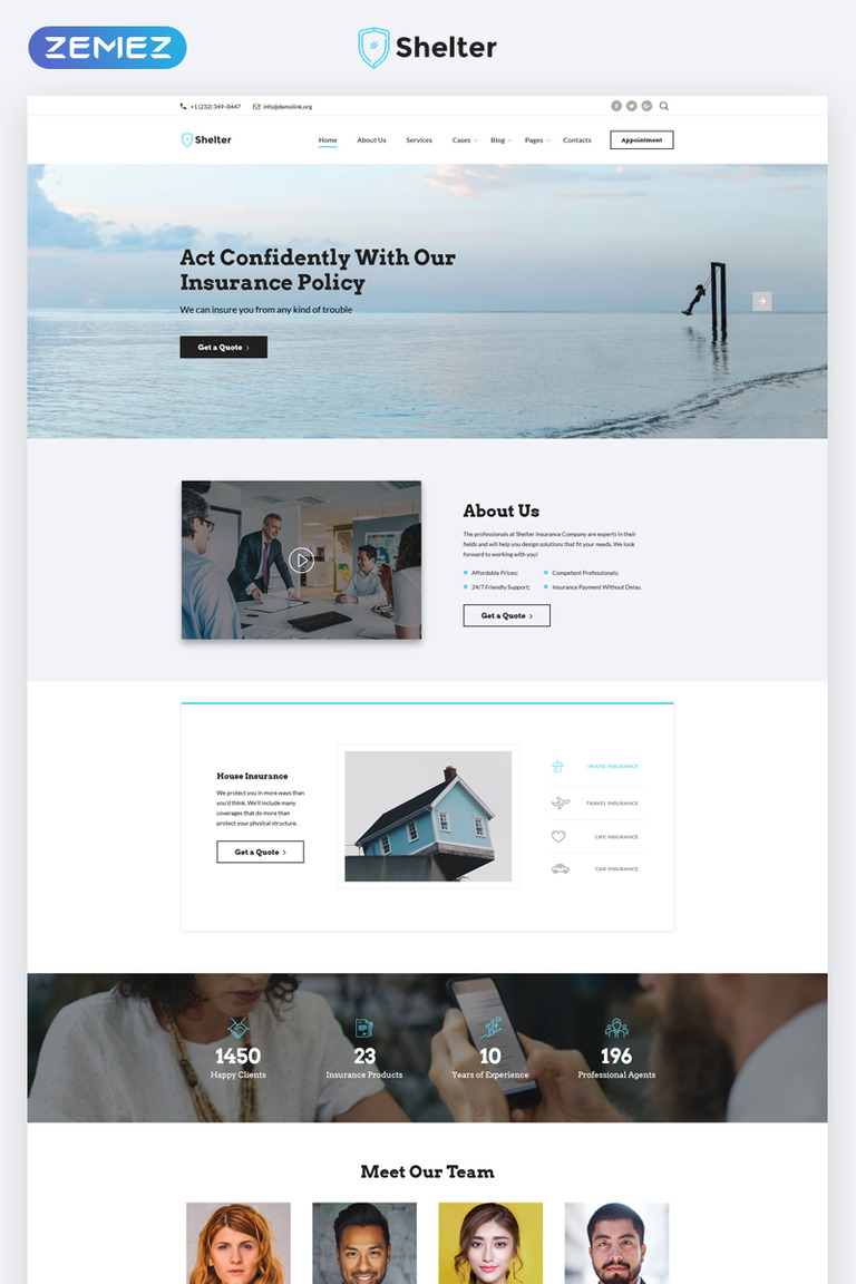 insurance agency - html5 website template  Insurance Agency Multipage HTML5 Template