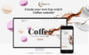 Responsivt Aromacafe - Coffee Shop Elementor WordPress-tema En stor skärmdump