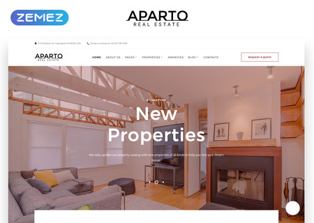 Aparto Responsive Multipage HTML template