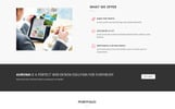 Responsivt Aurona - Business Responsive HTML Landing Page-mall