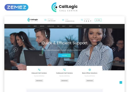 Call Center Multipage HTML5