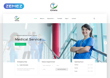 Medical Service Multipage HTML5
