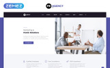"""PR Agency - Public Relations Agency Multipage"" Responsive Website template"