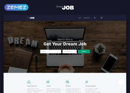Job Portal Multipage HTML