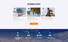 Responsivt WinTravel - Winter Tourism Responsive Multipage Hemsidemall En stor skärmdump