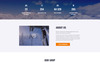 Plantilla Web para Sitio de Esquí Captura de Pantalla Grande