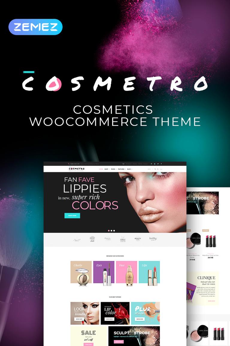 Cosmetro - Tema de WooCommerce Elementor para lojas de cosméticos
