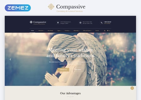 Cemetery & Funeral Services HTML5