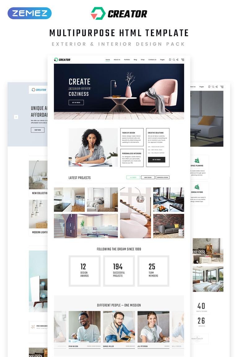 Website Vorlage #70411 für Wohndekor