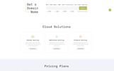Cloud - Domain and Hosting Multipage Template Web №69524