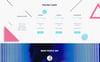 Responsivt Hemsidemall för webutveckling En stor skärmdump