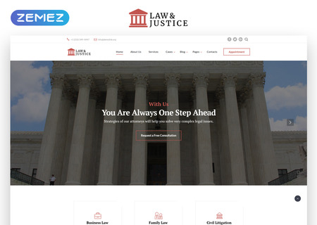 Law & Justice Multipage HTML