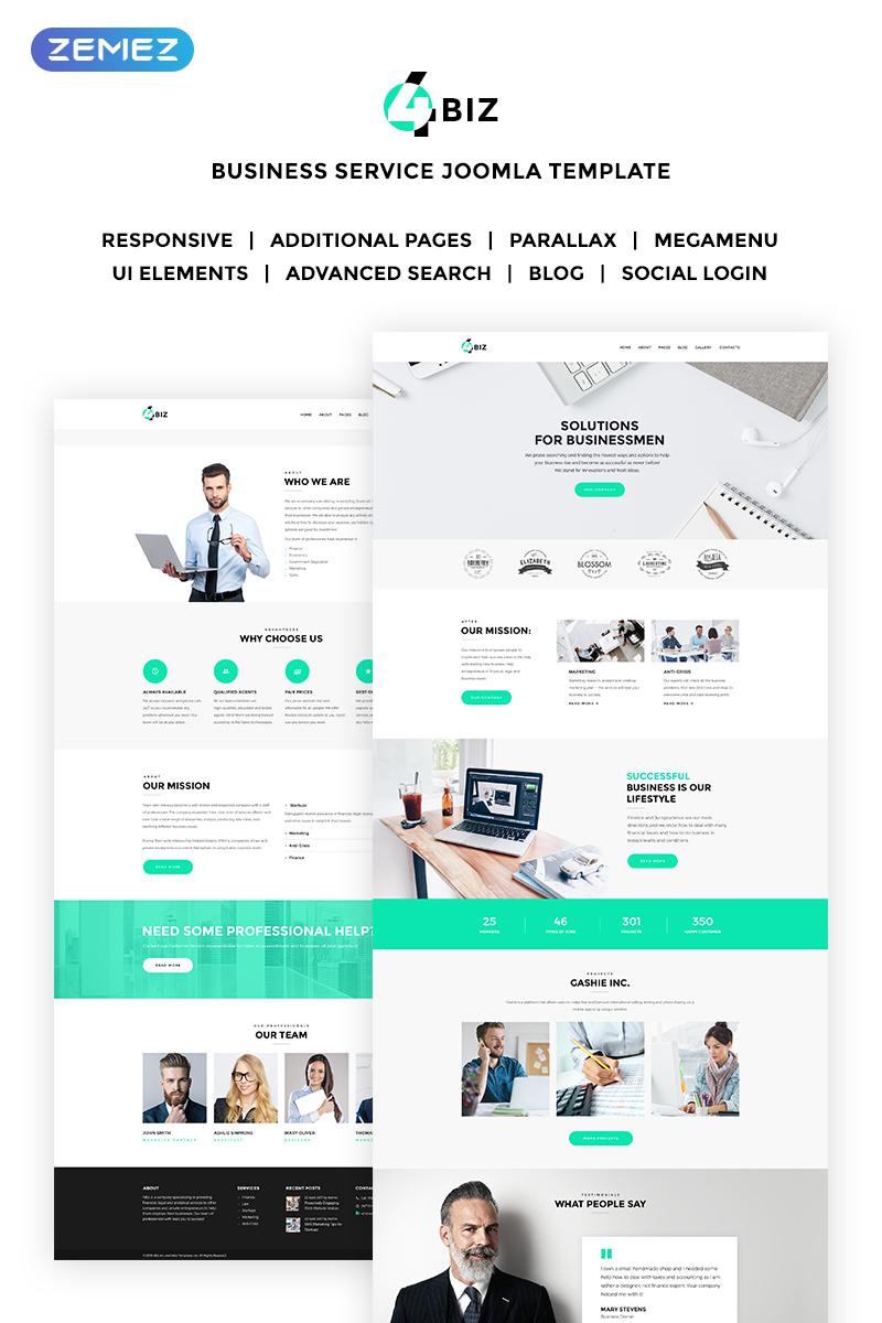 4Biz - Elegant Business Corporate Joomla Template