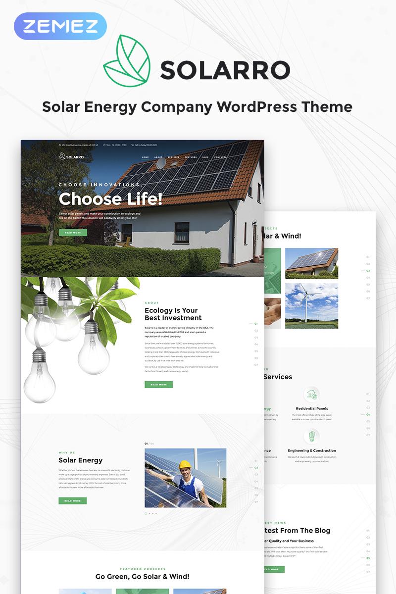 Адаптивный шаблон №69626 на тему бизнес и услуги, окружающая среда, солнечная энергия