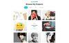 "Landing Page Template namens ""Reposer - Eye-Catching Portfolio HTML"" Großer Screenshot"