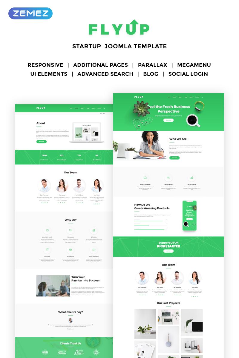 Flyup - Fresh Startup Business Joomla Template