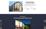 Plantilla para Página de Aterrizaje para Sitio de Arquitectura