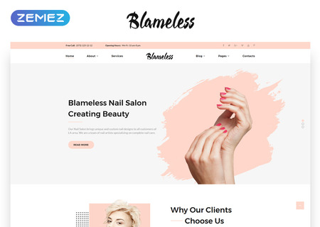 Nail Salon Multipage HTML5