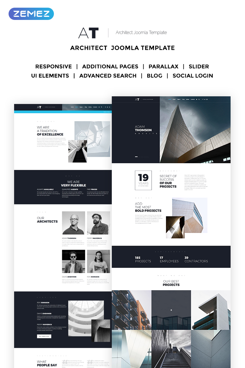 AT - Solid Architecture Agency Joomla Template