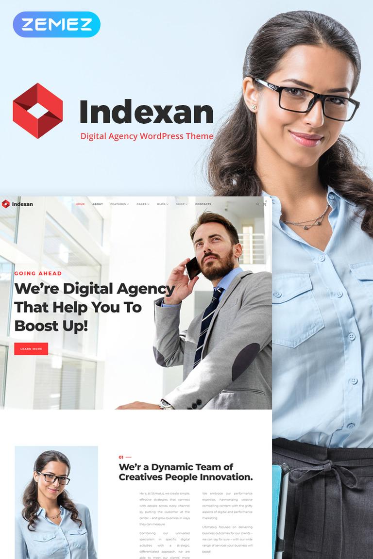 Indexan - Digital Agency Elementor WordPress Theme
