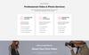 Responsivt MomiStudio - Videography Services HTML5 Landing Page-mall En stor skärmdump