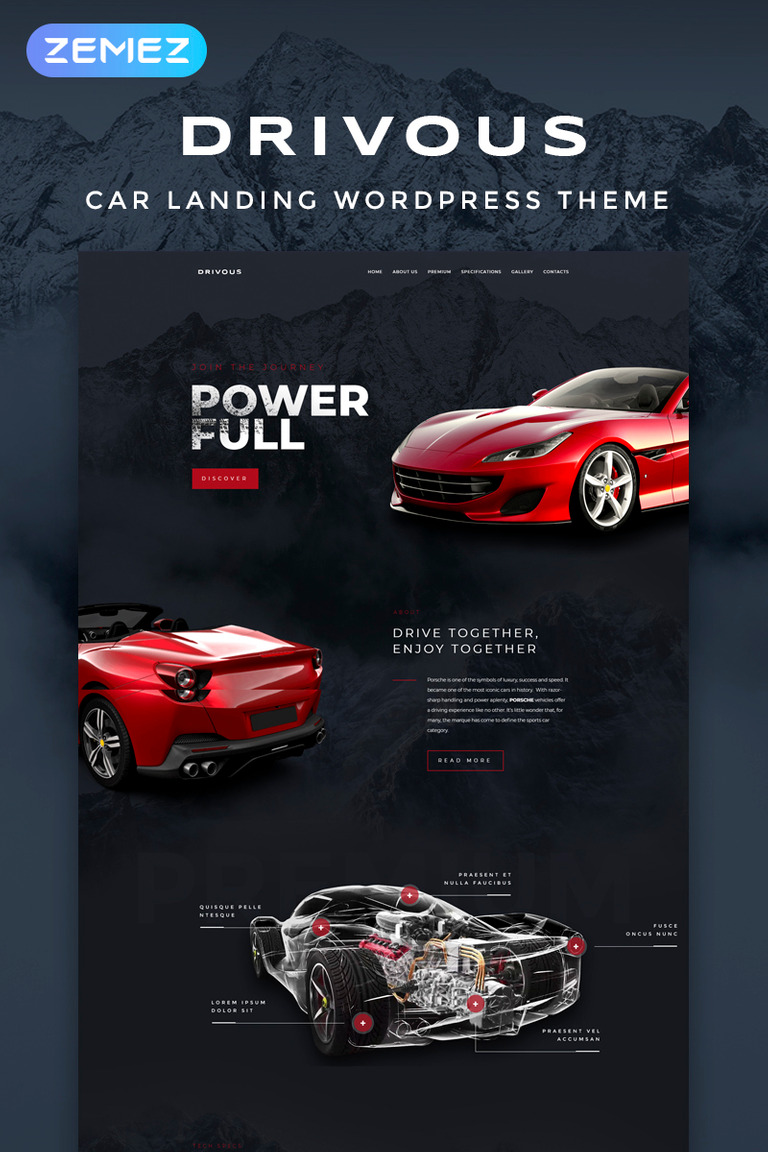 Drivous - Car Landing Responsive Elementor WordPress Theme