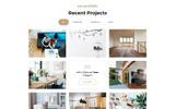 Plantilla para Página de Aterrizaje para Sitio de Remodelación de casa
